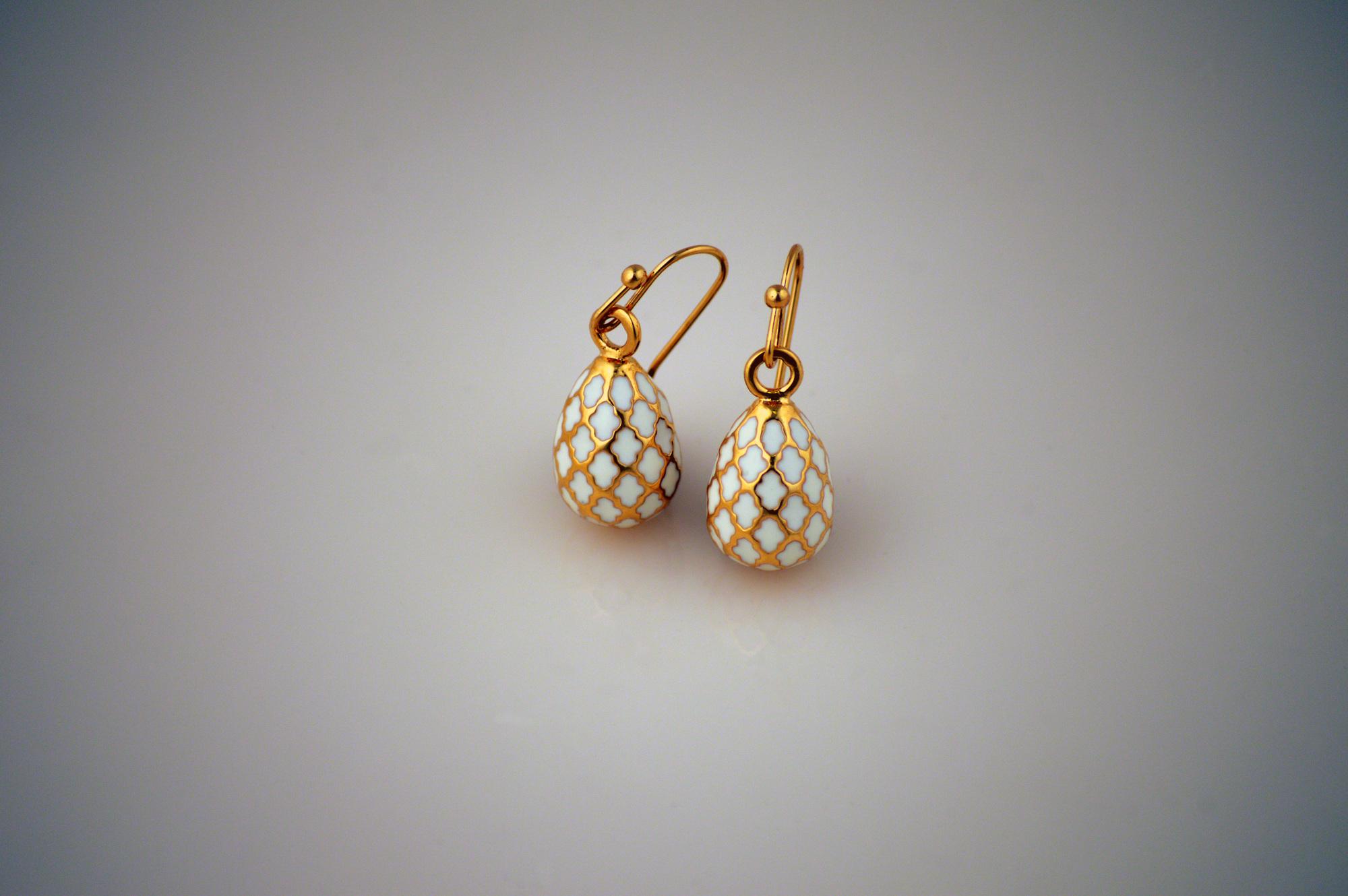 gold egg earrings