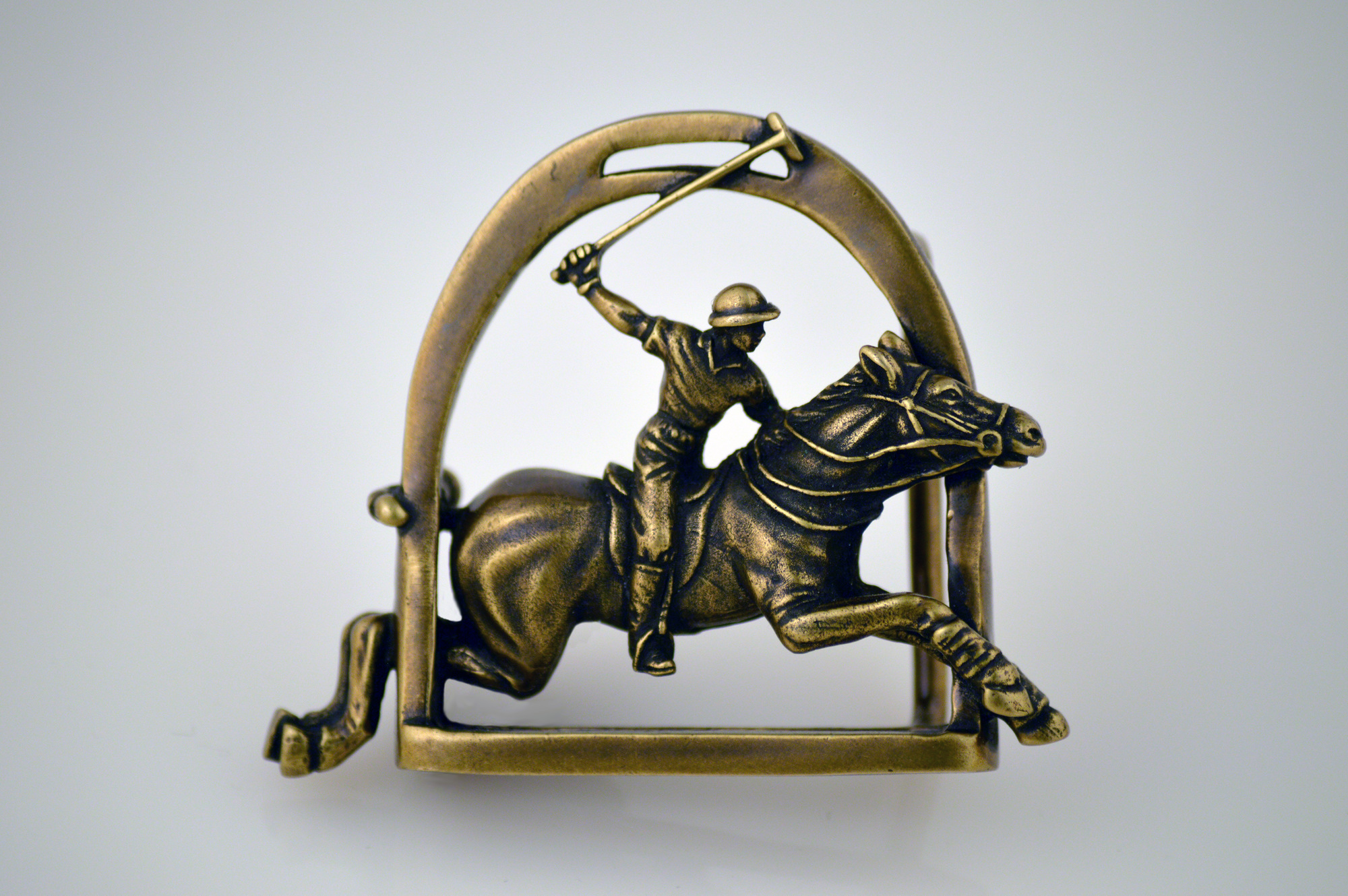 bronze horseshoe rider